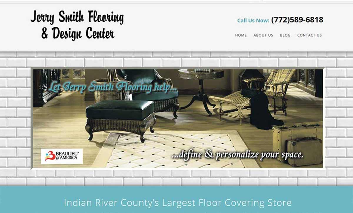 Jerry Smith Flooring Website Design Social Media